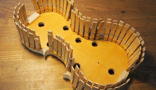 【ヴァイオリン製作】ライニングの製作・接着