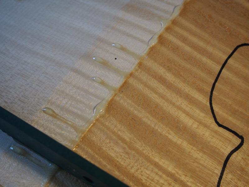 ヴァイオリン製作 裏板