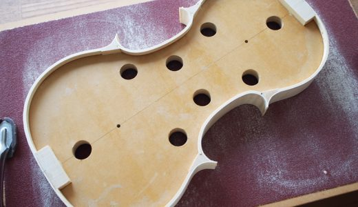【ヴァイオリン製作】横板の調整
