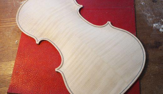 【ヴァイオリン製作】裏板のアーチ仕上げを完成させる