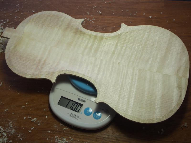 【ヴァイオリン製作】裏板の内側を掘る-後編