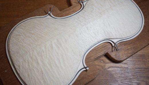 【ヴァイオリン製作】表板の製作 再度難関のパーフリングに挑む
