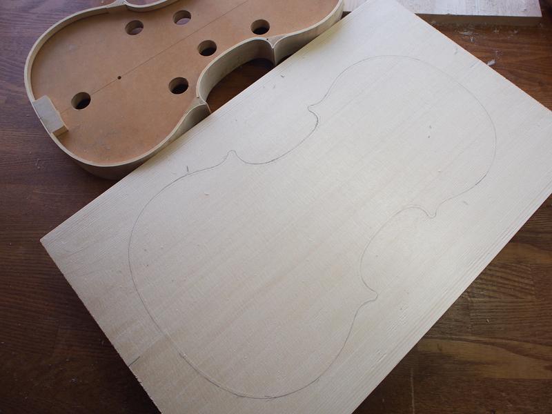 ヴァイオリン製作 表板