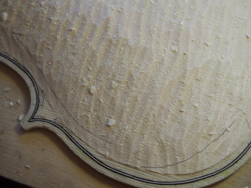 ヴァイオリン製作 表板 アーチ