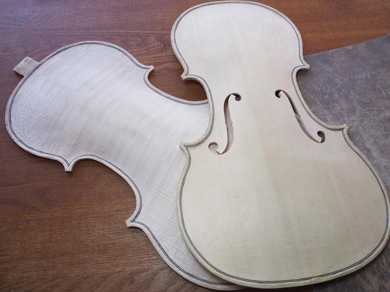 ヴァイオリン製作 接着準備