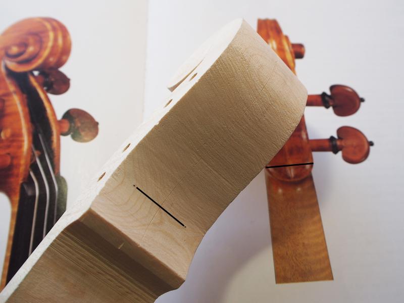 ヴァイオリン製作 ネック