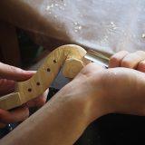 【ヴァイオリン製作】ネックの作り方3 渦巻き部分の彫刻