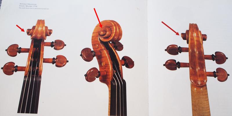 ヴァイオリン製作 ネック スクロール