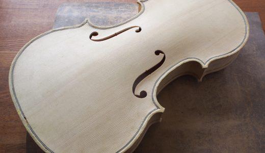 【ヴァイオリン製作】 表板・横板・裏板の接着〜ボディの完成