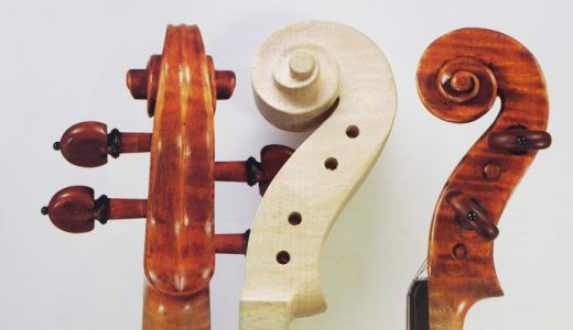 【ヴァイオリン製作】ネックの作り方4 渦巻きの深堀りとぺグボックス