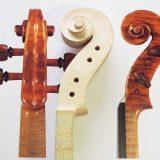【ヴァイオリン製作】ネックの作り方3 渦巻き彫刻とペグボックス