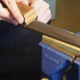 【ヴァイオリン製作】ネックの作り方5 指板の調整と仕上げ
