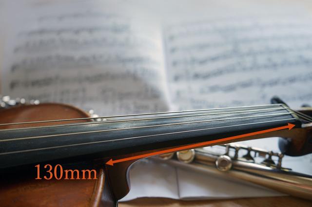 ヴァイオリン製作 ネック長