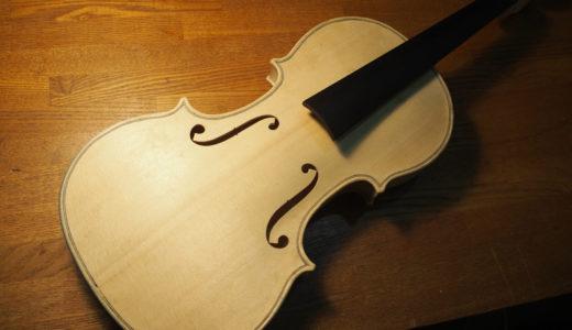 【ヴァイオリン製作】 ネックとボディの接着