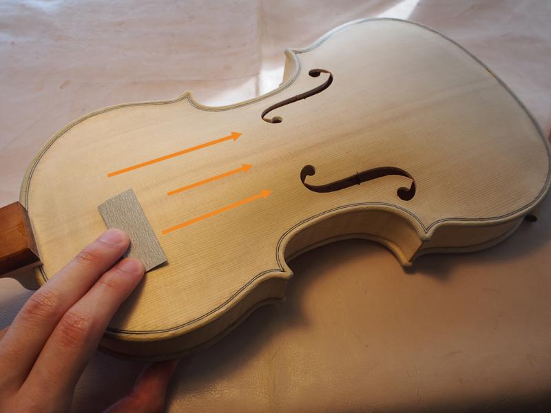 ヴァイオリン 紙ヤスリ