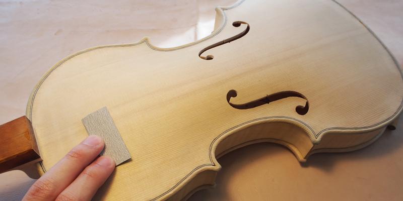 ヴァイオリン製作 クリーニング