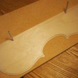 【ヴァイオリン製作】 裏板・横板のテンプレート作成