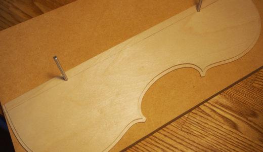 【ヴァイオリン製作】 裏板・横板2枚のテンプレート作成
