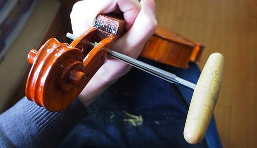 【ヴァイオリン製作】ペグの調整