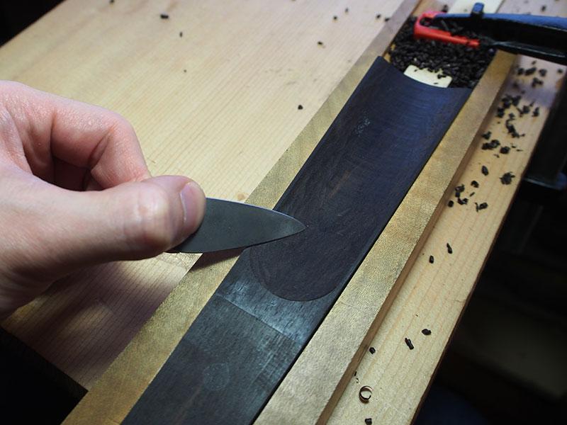 ヴァイオリン製作 指板