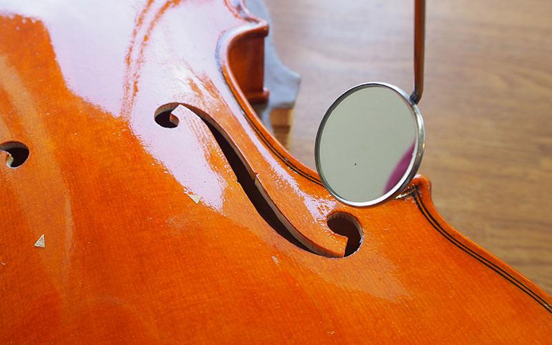 ヴァイオリン製作 魂柱