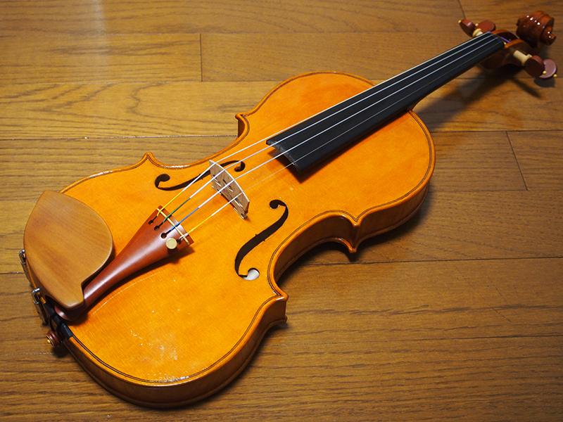 ヴァイオリン製作 弦張り