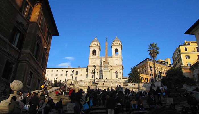 ローマ スペイン階段 イタリア旅行