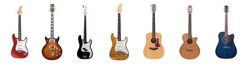 アコーステイックギター エレキギター