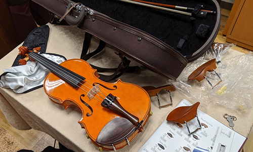 ヴァイオリン 顎当て 変更